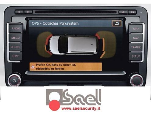 Увидел в сети такую систему, которая подключается к РНС510, и визуализирует информацию с парктроников.